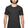 Anvil Mens Heather Dark Grey Short Sleeve Crewneck T-Shirt