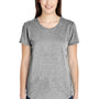 Anvil Womens Heather Grey Short Sleeve Crewneck T-Shirt