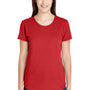 Anvil Womens Heather Red Short Sleeve Crewneck T-Shirt