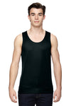 Augusta Sportswear 703 Mens Training Moisture Wicking Tank Top Black Front