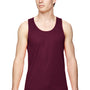 Augusta Sportswear Mens Maroon Training Moisture Wicking Tank Top