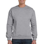 Anvil Mens Heather Grey Fleece Crewneck Sweatshirt