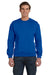 Anvil 71000 Mens Fleece Crewneck Sweatshirt Royal Blue Front
