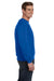 Anvil 71000 Mens Fleece Crewneck Sweatshirt Royal Blue Side