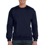 Anvil Mens Navy Blue Fleece Crewneck Sweatshirt