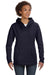 Anvil 72500L Womens French Terry Hooded Sweatshirt Hoodie Navy Blue Front
