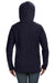 Anvil 72500L Womens French Terry Hooded Sweatshirt Hoodie Navy Blue Back