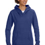 Anvil Womens Heather Blue French Terry Hooded Sweatshirt Hoodie