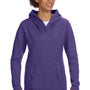 Anvil Womens Heather Purple French Terry Hooded Sweatshirt Hoodie