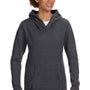 Anvil Womens Heather Dark Grey French Terry Hooded Sweatshirt Hoodie