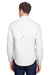 Columbia 7253 Mens Tamiami II Moisture Wicking Long Sleeve Button Down Shirt w/ Double Pockets White Back