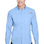 Columbia Mens Tamiami II Moisture Wicking Long Sleeve Button Down Shirt w/ Double Pockets - Sail Blue