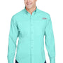 Columbia Mens Tamiami II Moisture Wicking Long Sleeve Button Down Shirt w/ Double Pockets - Gulf Stream Green