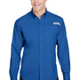 Columbia Mens Tamiami II Moisture Wicking Long Sleeve Button Down Shirt w/ Double Pockets - Vivid Blue