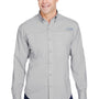 Columbia Mens Tamiami II Moisture Wicking Long Sleeve Button Down Shirt w/ Double Pockets - Cool Grey