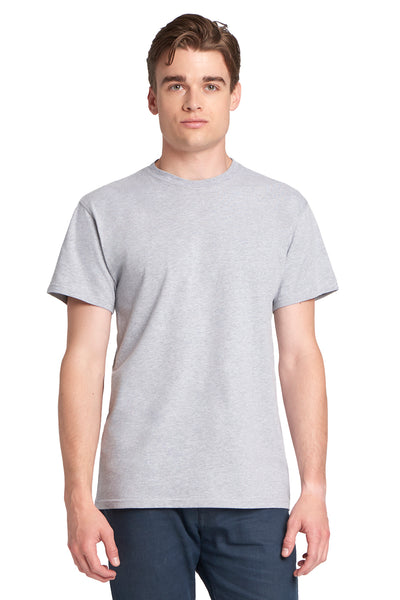 Next Level 7410S Mens Power Short Sleeve Crewneck T-Shirt Heather Grey Front