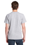 Next Level 7410S Mens Power Short Sleeve Crewneck T-Shirt Heather Grey Back