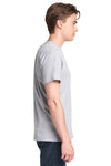 Next Level 7410S Mens Power Short Sleeve Crewneck T-Shirt Heather Grey Side