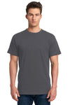 Next Level 7410S Mens Power Short Sleeve Crewneck T-Shirt Heavy Metal Grey Front