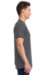 Next Level 7410S Mens Power Short Sleeve Crewneck T-Shirt Heavy Metal Grey Side