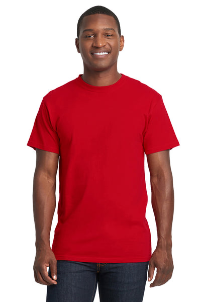 Next Level 7410S Mens Power Short Sleeve Crewneck T-Shirt Red Front