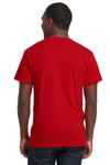 Next Level 7410S Mens Power Short Sleeve Crewneck T-Shirt Red Back