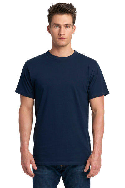 Next Level 7410S Mens Power Short Sleeve Crewneck T-Shirt Navy Blue Front