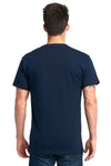 Next Level 7410S Mens Power Short Sleeve Crewneck T-Shirt Navy Blue Back
