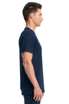 Next Level 7410S Mens Power Short Sleeve Crewneck T-Shirt Navy Blue Side
