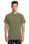 Next Level 7410S Mens Power Short Sleeve Crewneck T-Shirt Military Green Front