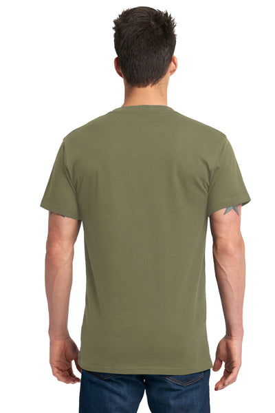 Next Level 7410S Mens Power Short Sleeve Crewneck T-Shirt Military Green Back