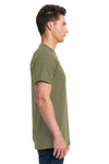 Next Level 7410S Mens Power Short Sleeve Crewneck T-Shirt Military Green Side