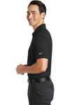 Nike 746099 Mens Icon Dri-Fit Moisture Wicking Short Sleeve Polo Shirt Black Side
