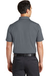 Nike 746099 Mens Icon Dri-Fit Moisture Wicking Short Sleeve Polo Shirt Dark Grey Back