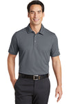Nike 746099 Mens Icon Dri-Fit Moisture Wicking Short Sleeve Polo Shirt Dark Grey Front