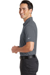 Nike 746099 Mens Icon Dri-Fit Moisture Wicking Short Sleeve Polo Shirt Dark Grey Side