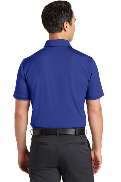 Nike 746099 Mens Icon Dri-Fit Moisture Wicking Short Sleeve Polo Shirt Royal Blue Back