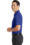 Nike 746099 Mens Icon Dri-Fit Moisture Wicking Short Sleeve Polo Shirt Royal Blue Side