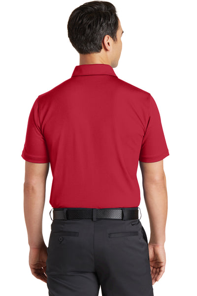Nike 746099 Mens Icon Dri-Fit Moisture Wicking Short Sleeve Polo Shirt Red Back