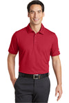 Nike 746099 Mens Icon Dri-Fit Moisture Wicking Short Sleeve Polo Shirt Red Front