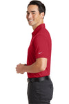 Nike 746099 Mens Icon Dri-Fit Moisture Wicking Short Sleeve Polo Shirt Red Side