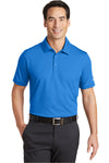 Nike 746099 Mens Icon Dri-Fit Moisture Wicking Short Sleeve Polo Shirt Light Photo Blue Front