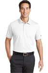 Nike 746099 Mens Icon Dri-Fit Moisture Wicking Short Sleeve Polo Shirt White Front