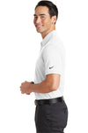 Nike 746099 Mens Icon Dri-Fit Moisture Wicking Short Sleeve Polo Shirt White Side