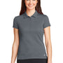 Nike Womens Icon Dri-Fit Moisture Wicking Short Sleeve Polo Shirt - Dark Grey