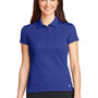 Nike Womens Icon Dri-Fit Moisture Wicking Short Sleeve Polo Shirt - Royal Blue