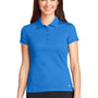 Nike Womens Icon Dri-Fit Moisture Wicking Short Sleeve Polo Shirt - Light Photo Blue