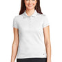 Nike Womens Icon Dri-Fit Moisture Wicking Short Sleeve Polo Shirt - White