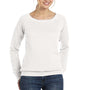 Bella + Canvas Womens Sponge Fleece Wide Neck Sweatshirt - Solid White