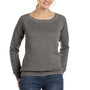 Bella + Canvas Womens Sponge Fleece Wide Neck Sweatshirt - Grey Triblend